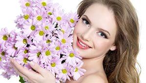 красивые цветы и зубы